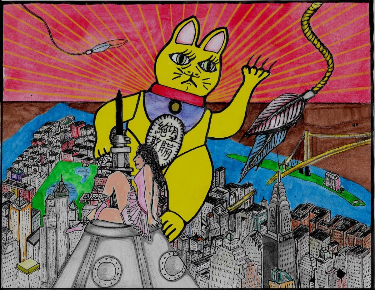 GonzoFelineDream-KittyKongIllustration